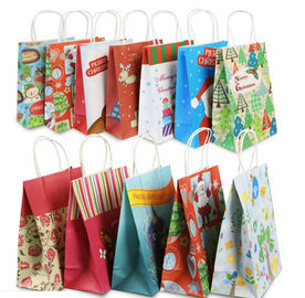 Eco Friendly Custom Printed Paper Bags For Christmas Gift Packaging